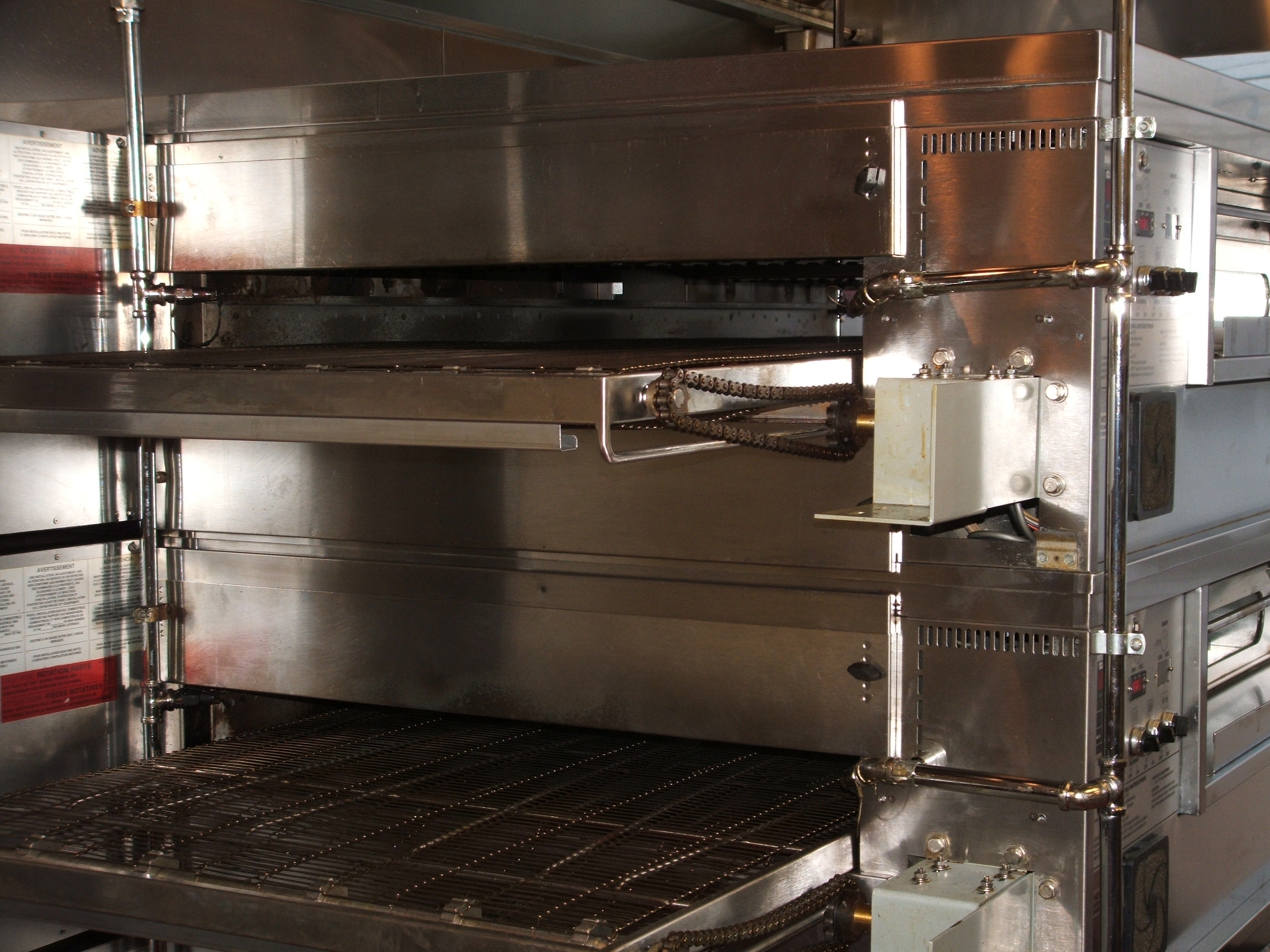 double stack mini gas impinger conveyor lincoln oven product pizza natural